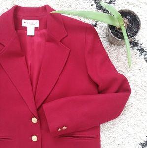 Appleseed's red wool Blazer Jacket
